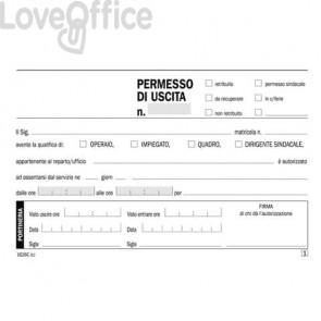 Blocco permessi di uscita flex 17,3x9,9 cm - 50x2 copie autoricalcanti 1626C0000