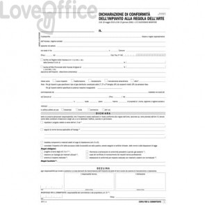 Libretto di impianto data ufficio - 31x21 cm - DU184110000 (50 fascicoli da 5 copie a fascicolo)