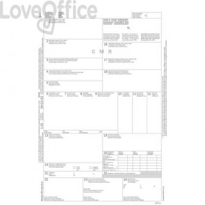 Lettera di vettura internazionale (CMR) data ufficio snap out-21x31 cm 50x5 copie autoricalc. - DU183160000 (cf. 50 pezzi)