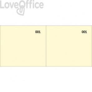 Scontrino colorato a 2 sezioni Data Ufficio blocco 100 copie prenumerate giallo - DU160000030 (conf.10)