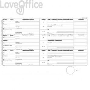 Registro carico-scarico rifiuti Mod. A per detentori Data Ufficio - A4 - DU165820000 (100 fogli)