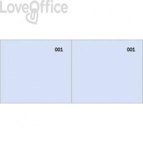 Scontrino colorato a 2 sezioni Data Ufficio blocco 100 copie prenumerate blu - DU160000040 (conf.10)