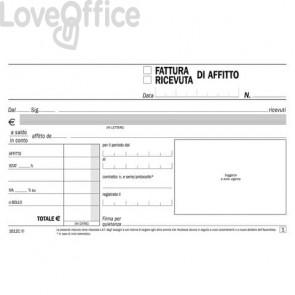 Blocco ricevute-fatture di affitto flex 10x16,8 cm - 1612C0000 (50x2 copie autoricalcanti)