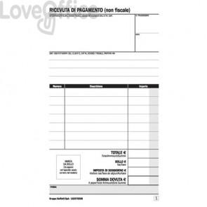 Ricevuta di pagamento B&B/Affittacamere data ufficio - blocco - 16,8x10 cm DU16257B250 (25x2 copie autoricalcanti)