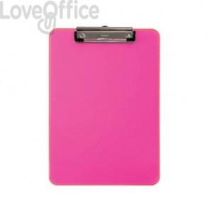 Portablocchi con clip MAUL rosa fucsia transparente 2340621