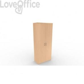 Mobile a due ante in legno - 4 ripiani DELLA ROVERE Kompas 90x45x210,5 cm faggio D203707 + D203729S