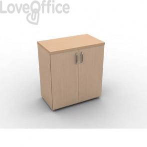 Mobile a due ante in legno - 1 ripiano DELLA ROVERE Kompas 90x45x86,5 cm faggio D203603