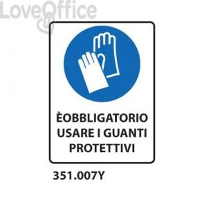"""Cartello di obbligo """"Obbligo guanti 33x50 cm - 351.007Y 351.007Y"""