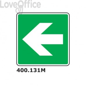 """Cartello segnaletico """"Freccia direzionale'' 25x25 cm - 400.131M"""