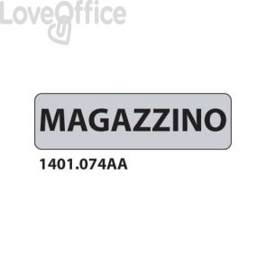 """Cartelli per interni """"Magazzino"""" 17x4,5 cm Conf. 15 pezzi - 1401.074AA"""