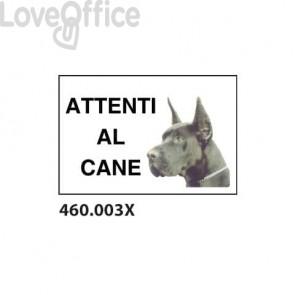 """Cartello di avviso """"Attenti al cane""""  20x30 cm - 460.003X"""