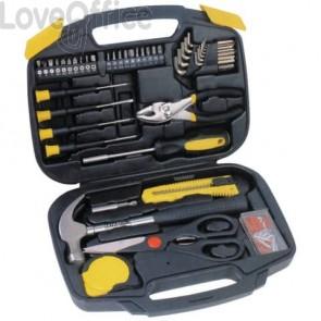 Kit utensili da casa per manutenzione MKC nero 31x23x7 cm 495110655 (45 pezzi)
