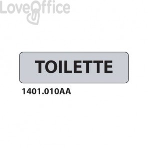 "Cartello ""Toilette"" 1401.010AA"