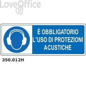 """Cartello di obbligo """"Obbligatorio usare protezione acustiche'' 33x50 cm - 350.012H"""