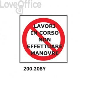 """Cartello di divieto """"Divieto di transito'' 33x33 cm - 200.208Y"""