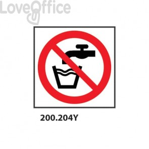 """Cartello di divieto """"Acqua non potabile""""  33x33 cm - 200.204Y"""