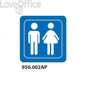 """Cartello """"Toilette uomo e donna""""  950.002AP"""