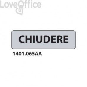 """Cartelli per interni """"Chiudere""""  17x4,5 cm Conf. 15 pezzi - 1401.065AA"""