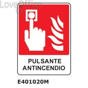"""Cartello di avviso """"Pulsante antincendio'' E401020M"""