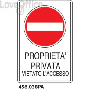 "Cartello ""Proprietà Privata"" 456.038PA"