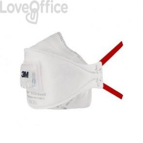 Respiratori a conchiglia con valvola 3M Aura™ bianca FFP3 - 9332+Gen3
