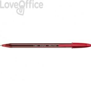 Penne a sfera con cappuccio BIC Cristal® Exact 0,7 mm rosso