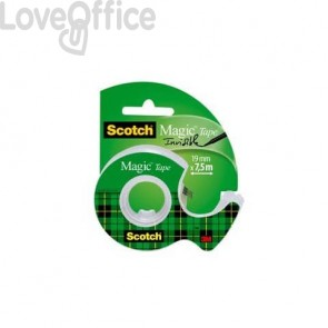 Nastro adesivo trasparente Scotch Magic™ 19 mm x 7,5 m in minichiocciola trasparente 7100086322