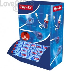 Correttori a nastro TIPP-EX Pocket Mouse 4.2 mm x 10 m Value Pack da 15 + 5 omaggio - 935587