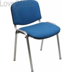 Sedie attesa ufficio Agata DADO UNISIT - polipropilene - Blu - Acciaio grigio (conf.2)