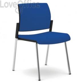 Sedia gambe metallo Unisit Kind rivestimento fili di luce blu KI4GTBB/F11