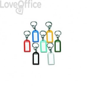 Targhette portachiavi Lebez 10x8,5 cm assortiti 5 colori (conf. 100 pezzi)