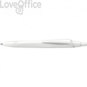 Penna a sfera a scatto RECO - fusto bianco inchiostro nero Schneider tratto M