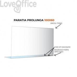 Paratia prolunga formato 100x60 cm policarbonato trasparente