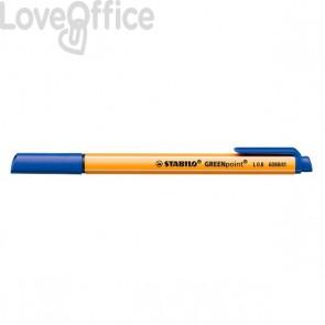 Stabilo pennarellini Blu - GREENpoint - 0,8 mm (conf. 10)