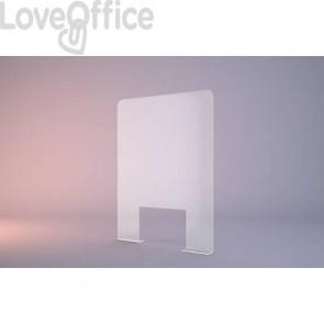 Pannello separatore di sicurezza autoportante 60x60 cm in perspex trasparente - M10027