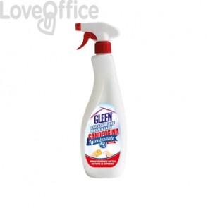 Sgrassatore universale igienizzante con candeggina Gleen - flacone 750 ml - tappo trigger spray - 7-0263