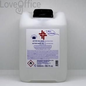 Gel igienizzante mani in tanica da 5 Litri (alcol 70%) - Active linea Bosco di Rivalta