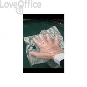 Guanti preformati monouso per alimenti in Hdpe vergine trasparente neutro 23x28 cm a strappo - rotolo da 500 pezzi 39960