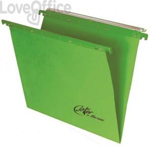 Cartelle sospese orizzontali per cassetti Linea Joker Bertesi 39 cm fondo V - verde (conf. 25 pezzi)