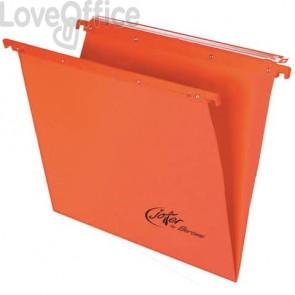 Cartelle sospese orizzontali per cassetti Linea Joker Bertesi 39 cm fondo V - arancio (conf. 25 pezzi)