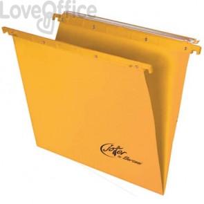 Cartelle sospese orizzontali per cassetti Linea Joker Bertesi 39 cm fondo V - giallo (conf. 25 pezzi)