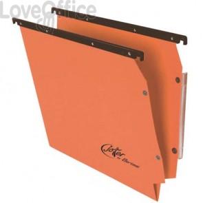 Cartelle sospese laterali per armadi Linea Joker Bertesi 33 cm fondo V - arancio (conf. 25 pezzi)