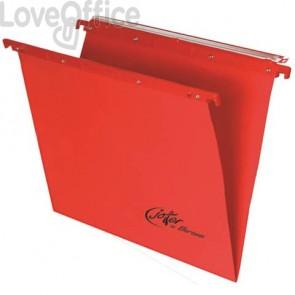Cartelle sospese orizzontali per cassetti Linea Joker Bertesi 33 cm fondo V - rosso (conf. 25 pezzi)