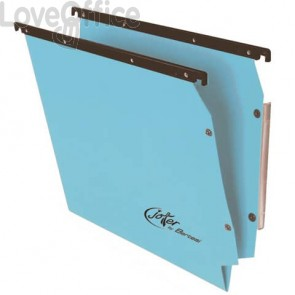 Cartelle sospese laterali per armadi Linea Joker Bertesi 33 cm fondo V - blu (conf. 25 pezzi)