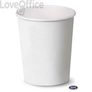 Bicchieri in cartoncino 8oz (240ml) Bianco Scatolificio del Garda Bianco - 112-00-S (conf. 50 pezzi)