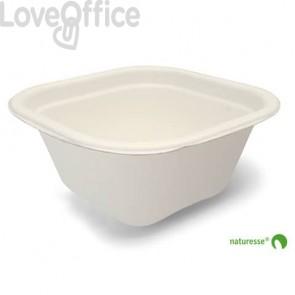 Vaschette quadrate in polpa di cellulosa 340 ml Scatolificio del Garda Bianco - 3453 (conf. 125 pz)