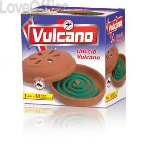 Insetticida zampirone per esterni Vulcano (conf.10 spirali + supporto in coccio)