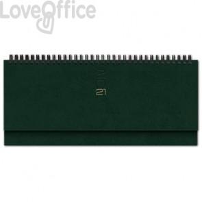 Planning spiralato 2021 29,8x10,5 cm Madrid verde 0430KA-298