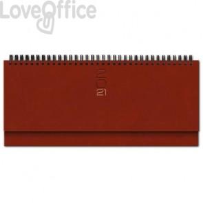 Planning spiralato 2021 29,8x10,5 cm Madrid rosso inglese 0430KA-A25