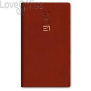 Agenda Settimanale 2021 8x14 cm Madrid rosso inglese 0481KA-A25